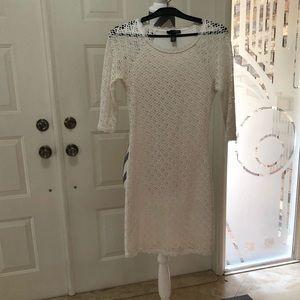CROCHET LONG SLEEVE DRESS BY AQUA